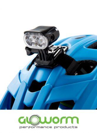 Gloworm Alpha Light on Helmet